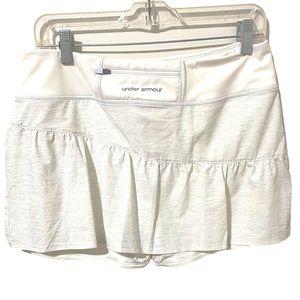 UNDER ARMOUR White Silver Metallic Tennis Skirt L